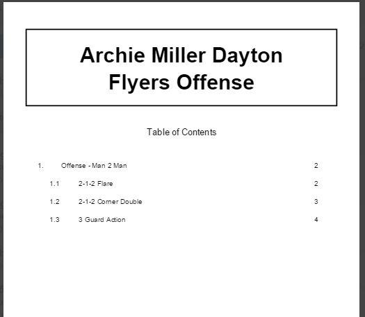 Archie Miller Dayton Flyers Offense