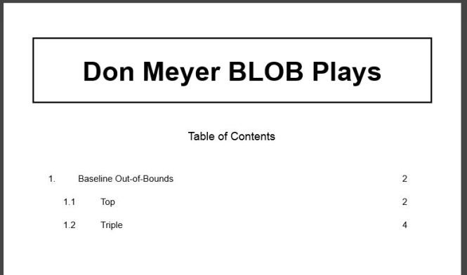 Don Meyer BLOB Plays