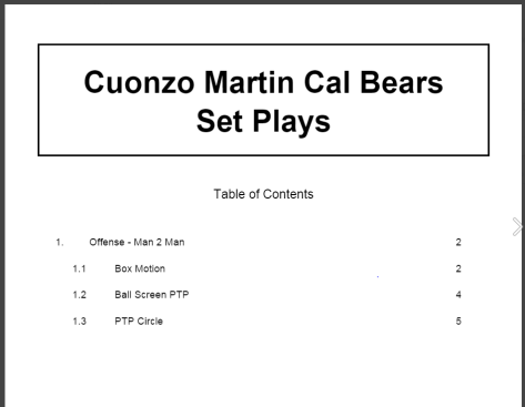 Cuonzo Martin Cal Bears Set Plays