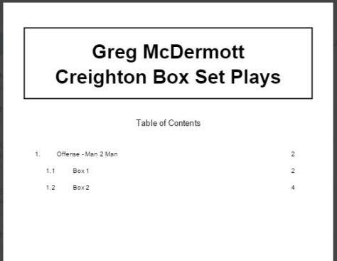 Greg McDermott Creighton Box Set Plays