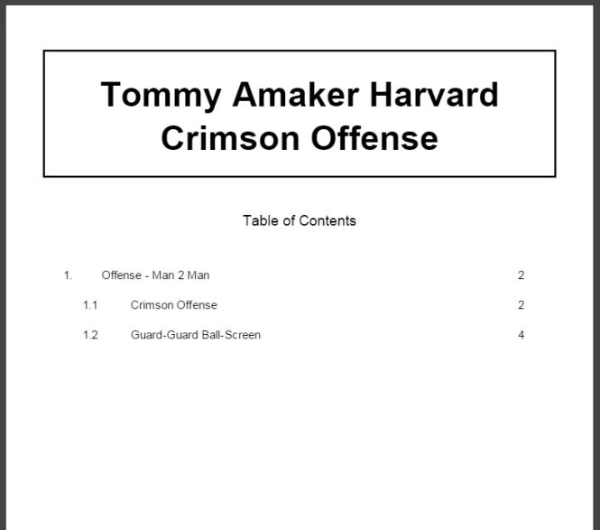 Tommy Amaker Harvard Crimson Offense