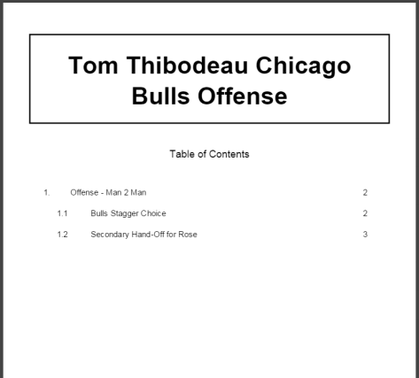 Tom Thibodeau Chicago Bulls Offense
