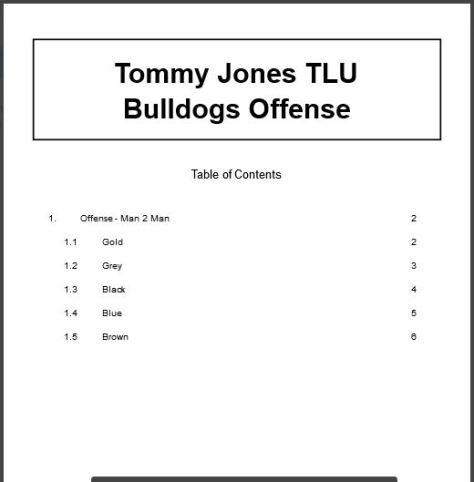 Tommy Jones TLU Bulldogs Offense