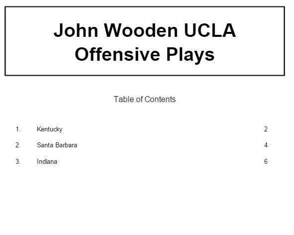 John Woodens UCLA Offense